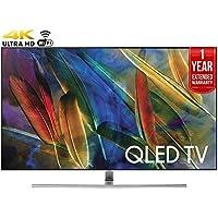 Samsung QN75Q7FAMFXZA Flat 75-Inch 4K Ultra HD Smart QLED TV (2017 Model) + 1 Year Extended Warranty (Certified Refurbished)