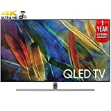 Samsung QN75Q7FAMFXZA Flat 75-Inch 4K Ultra HD Smart QLED TV (2017 Model) + 1 Year Extended Warranty (Certified Refurbished)