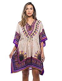 Riviera Sun - Caftán para Mujer con impresión Africana