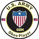 oboe bumper sticker - Military Vet Shop U.S. Army MOS 02H Oboe Player Window Bumper Sticker Decal 3.8