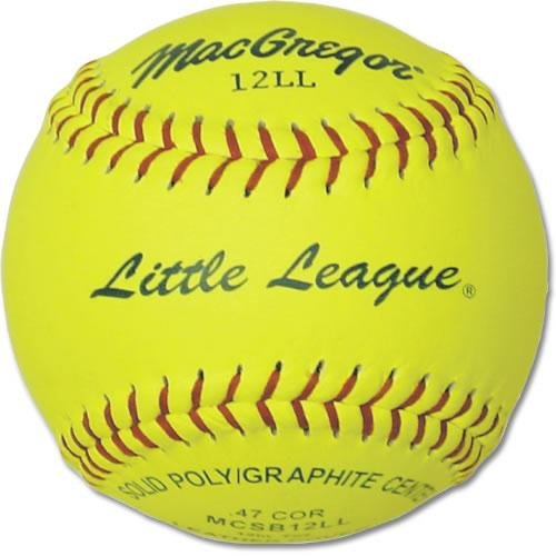 MacGregor Little League Softball, 11-inch (One Dozen) (Macgregor Leather)