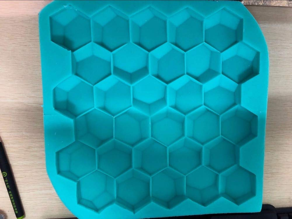 Geometric Wall Tile die Silicone Concrete Brick molds Honeycomb Design Silicone Mold for Plaster 3D Decorative Wall Panels - (Color: 28x28x3cm)