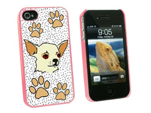 Graphics and More Chihuahua of Awesomeness - Snap On Hard Protective Case for Apple iPhone 4 4S - Pink - Carrying Case - Non-Retail Packaging - Pink