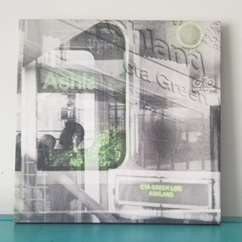 "Chicago 13"" Canvas Wall Art - Green Line CTA Photo Collage"