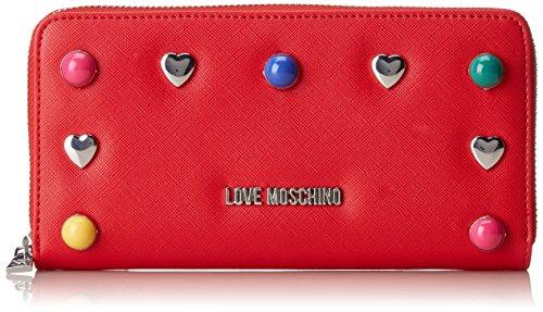 Love Moschino Damen Portafogli Pu Rosso Clutch, Rot (red), 3 X 11 X 20 Cm