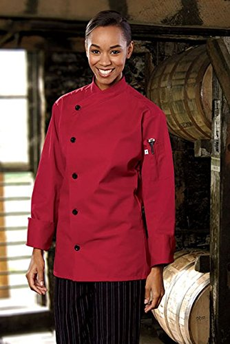 Uncommon Threads Unisex-Adults Plus Size Rio Chef Coat, Red, 3XL by Uncommon Threads