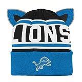 Outerstuff NFL Detroit Lions Team Ears Fleece Knit Hat Lion Blue, Infant One Size