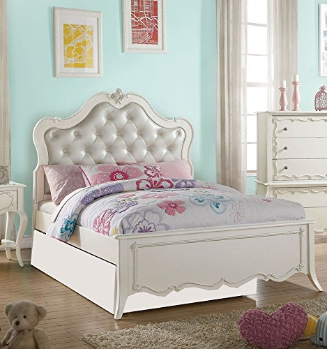 Sets Girls Bedroom Furniture (Acme Furniture 30505T Edalene Bed, Twin, Pearl White)