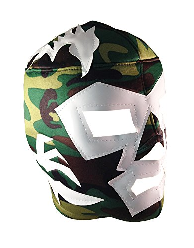DR. WAGNER Adult Lucha Libre Wrestling Mask (pro-fit) Costume Wear - Cammo -