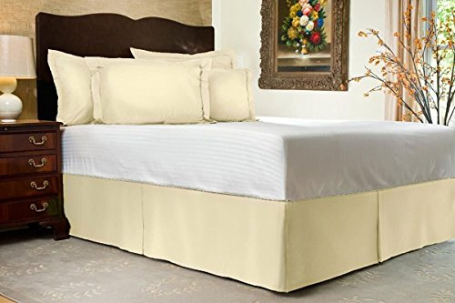 Hotel Collection 500 Thread (Hotel Series Luxurious Look 1-PC Split Corner Tailored Bed Skirt ( Solid ) 500 Thread Count Classic Egyptian Cotton With 12