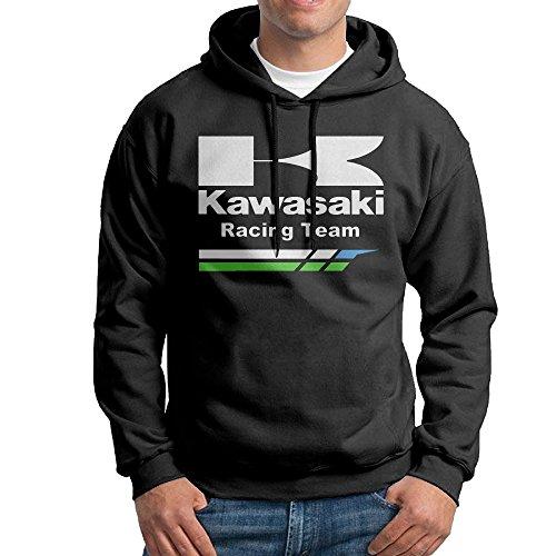 Grand Prix Hooded Sweatshirt - Kawasaki Racing Team Male Pullover Black Hoodies
