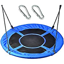 """Giant Family Swing - 40"""" Saucer Tree Swing with Bonus Carabiners- Blue - Soarin Supply Co"""