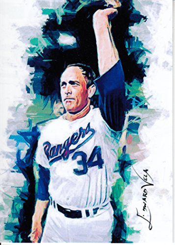 Nolan Ryan #18 - RARE-Texas Rangers -CY YOUNG AWARD WINNER-HALL OF FAME- Unlimited Edition Sketch Card