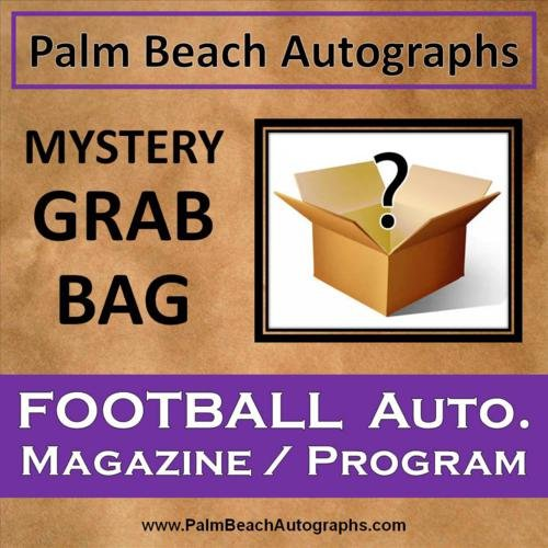 MYSTERY GRAB BAG - Autographed Football Magazine / Program (Program Autographed Magazine)