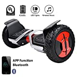 "EVERCROSS Phantom Self Balancing Scooter 2 Wheel Hover Self-Balance Board – UL2272 Certified, All-Terrain Bluetooth&App Three Speed Mode 10"" Alloy Wheel, 300W Dual-Motor Samsung Battery (Black)"