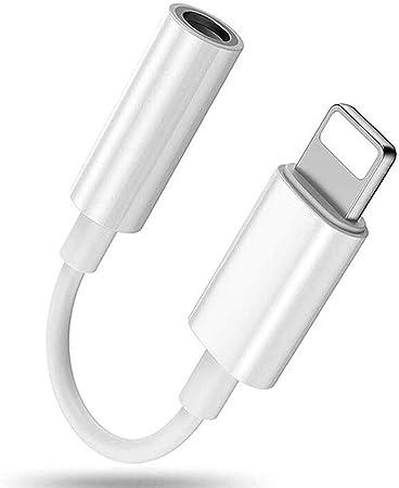 Image of Adaptador de auriculares para iPhone 11 adaptador a 3,5 mm accesorios dongle conector cable para iPhone X/XS max/8/8 Plus 7/7 Plus auriculares Aux Audio Jack convertidor auricular soporte todos iOS