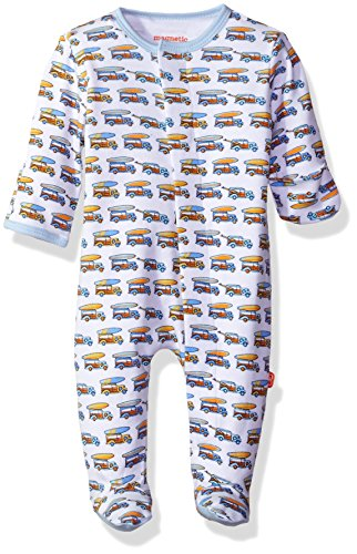 Magnificent Baby Baby Boys' Magnetic 1 Piece Footie, Woody Wagon, 6M