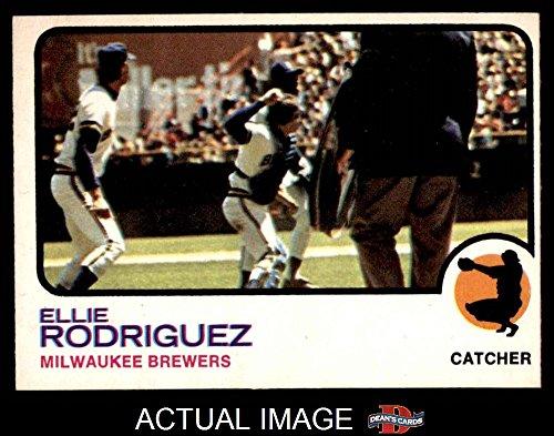 1973 O-Pee-Chee # 45 Ellie Rodriguez Milwaukee Brewers (Baseball Card) (Photo is either John Felske or Paul Ratliff) Dean's Cards 5 - EX Brewers Ellie Rodriguez Brewers