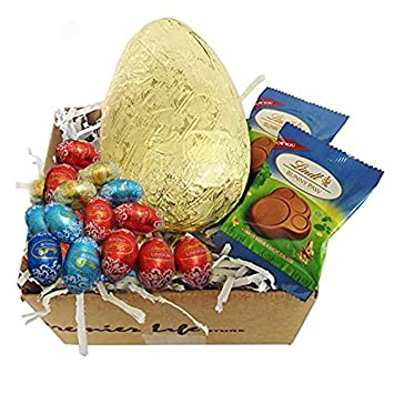 Amazon lindt easter gift set with golden egg assorted lindt easter gift set with golden egg assorted chocolate mini eggs and paws negle