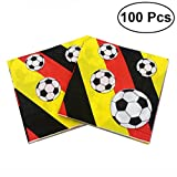 100pcs Football Paper Napkins World Cup Party Printing Tissue for Celebration Birthday Holiday
