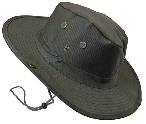 Boonie Bush Outdoor Fishing Hiking Hunting Boating Snap Brim Hat Sun Cap Bucket (Dark Olive Drab, (Australian Hat)