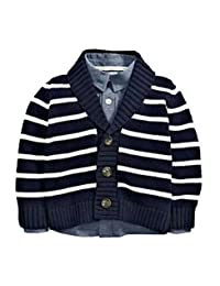 Infant Baby Boy Sweater Cardigans Striped Cotton Outerwear