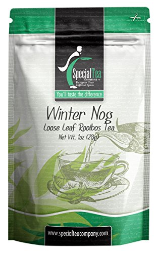 Special Tea Loose Leaf Sampler Rooibos Tea, Winter Nog, 1 Ounce Rooibos 1 Oz Loose Tea