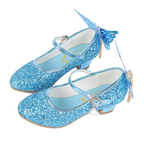 Girls Mary Janeshoes Cosplay Wedding Party Shoes Glitter