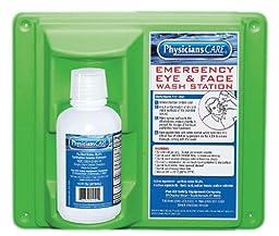 PhysiciansCare 24-000 Wall Mountable Eye Flush Station with Single 16 oz Bottle, 11-3/4\
