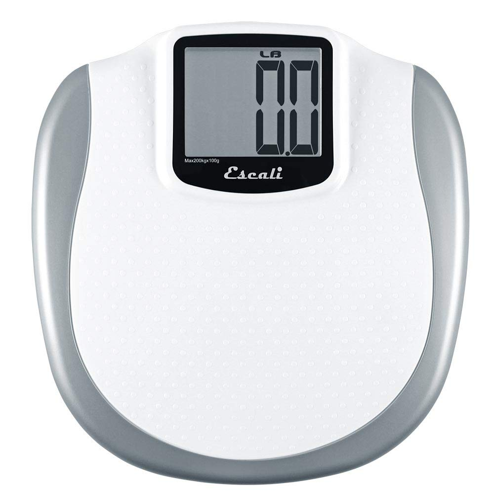 Amazon com escali high capacity large display bathroom scale 440 lb 200 kg health personal care