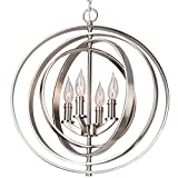 Kira Home Orbits 18'' 4-Light Modern Sphere/Orb Chandelier, Brushed Nickel Finish
