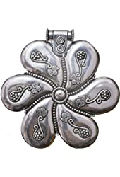 Sterling Twirling Flower Pendant with Granulation work - Sterling Silver