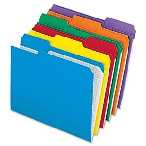 "Pendaflex Top-tab file folders 8.50"" x 11"" Sheet Size - 1/3 Tab Cut, Assorted Color, 100/Box (R152 1/3 ASST)"