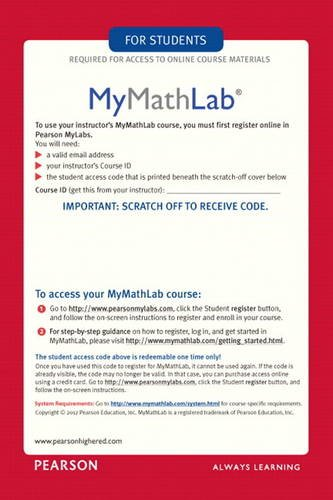 Find great deals on eBay for mymathlab access codes.>80% Items Are New · Huge Savings · Top Brands · We Have EverythingTypes: Fashion, Home & Garden, Electronics, Motors, Collectibles & Arts, Toys & Hobbies.