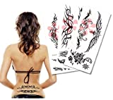 Mix Black & White Tribal Stripe Temporary Tattoo, Tribal Tattoo / 6 Pack