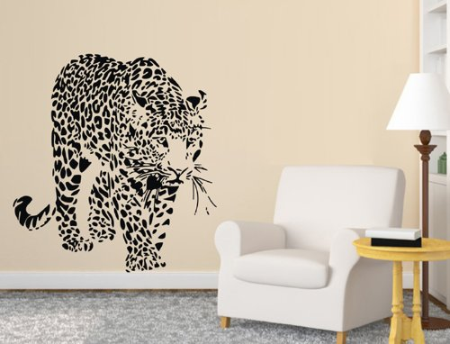 Animal Cheetahs, Leopards Wall Decal Sticker Living Room Stickers Vinyl Removable Black Color Wide 60cm ,High 60cm