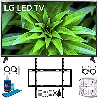 """LG 43LM5700PUA 43"""" HDR Smart LED FHD TV (2019) +Wall Mount Bundle Includes, Deco Mount Flat Wall Mount Kit, 2X 6ft HDMI Cable, SurgePro 6-Outlet Surge Adapter w/Night Light & Universal Screen Cleaner"""