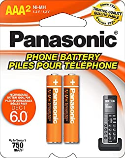 Panasonic HHR4DPA Genuine AAA NiMH Rechargeable Batteries for DECT Cordless Phones, 2 Pack (B001ID49BO) | Amazon price tracker / tracking, Amazon price history charts, Amazon price watches, Amazon price drop alerts