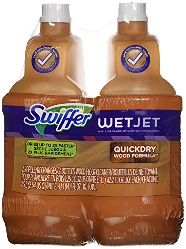 - Swiffer Wetjet Wood Floor Cleaner Solution Refill, 42.2 Oz