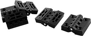 IIVVERR 5 Pcs Plastic Rectangle Folding Furniture Cupboard Cabinet Door pipe tube Hinge 40mmx40mm (5 Unids Rectángulo De Plástico Plegable Muebles Armario Gabinete Puerta Puerta Bisagra 40mmx40mm