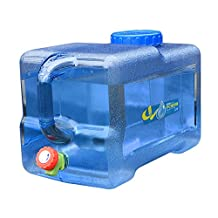 Outdoor 22L Thicken Plastic Water Tank Portable Tote Bucket Water Carrier with Water Faucet