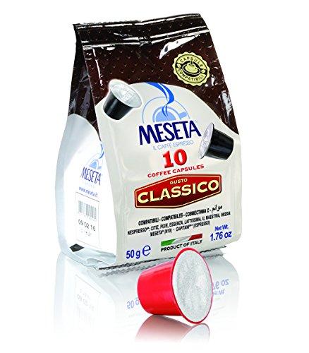 Meseta Cápsulas de Café Italiano, Mezcla Clásico, Compatible con el Sistema Nespresso, 50 g