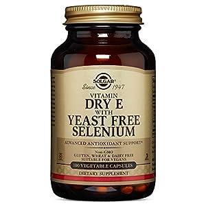 Solgar – Dry Vitamin E with Yeast Free Selenium, 100 Vegetable Capsules