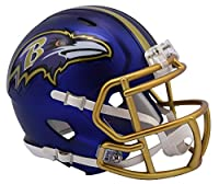 NFL Baltimore Ravens Alternate Blaze Speed Mini Helmet