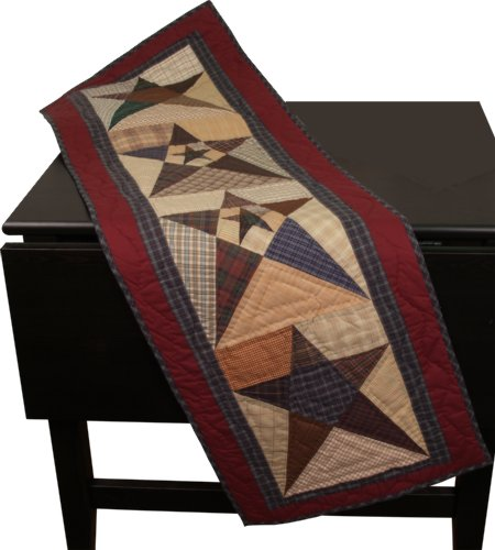 - Primitive Star Table Runner Quilt 50