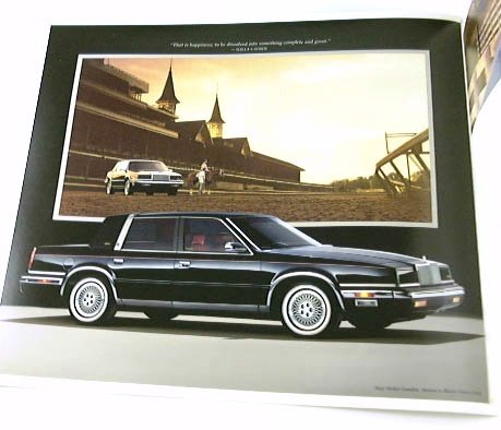1989 89 Chrysler NEW YORKER BROCHURE Landau 4dr Std