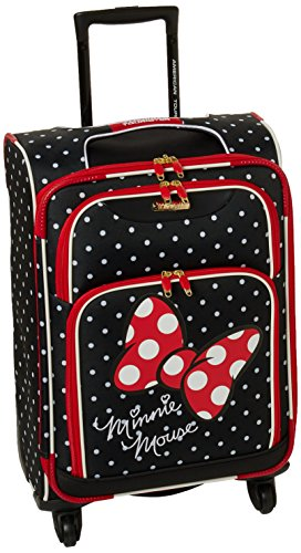 "American Tourister Disney 21"" Spinner Luggage Minnie Mouse Red Bow"