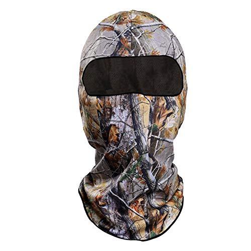 Eamber Reactree Camo Balaclava Full Face Mask Hood Headcover Hunting Shooting Cycling Motorcycle Tactical Comfortable Soft Balaclava Headwear (Realtree)
