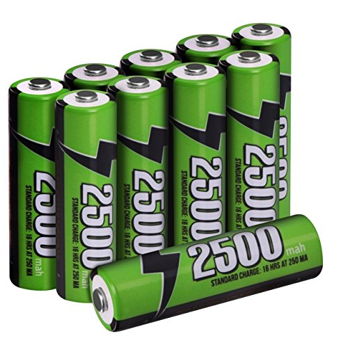 AA Rechargeable Batteries - High Capacity - Pack of 10 - Pre-Charged - By Utopia Home