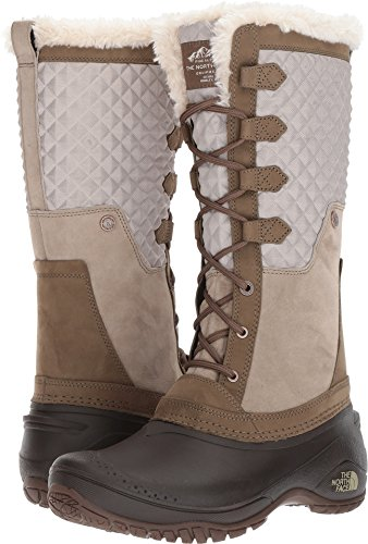 The North Face Women's Shellista III Tall Dune Beige/Demitasse Brown (Past Season) 8 B US (Brown Multi Suede Footwear)